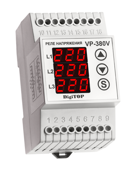 Voltage sensing relay DigiTOP VP-380V